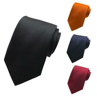 4 Solid Color Men's Classic Tie Silk Necktie Woven Jacquard Neck Ties Necktie