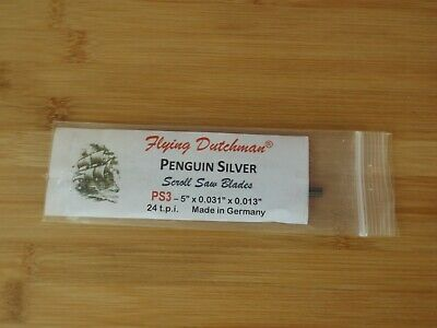 Flying Dutchman Scroll saw blades. penguin silver No 3 24 tpi