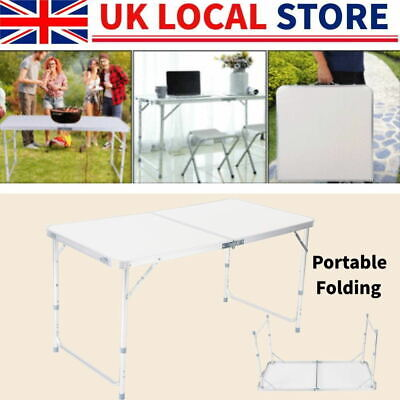 3Catering Camping Portable Folding Trestle Table Picnic BBQ Party outdoor 4ft