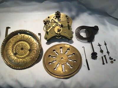 Antique-Waterbury Clock Movement with dial and glass