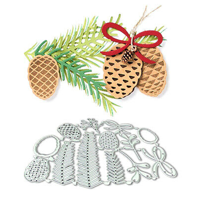 Christmas Pine Cones Metal Cutting Dies Embossing DIY Stencil Craft Cards Acces