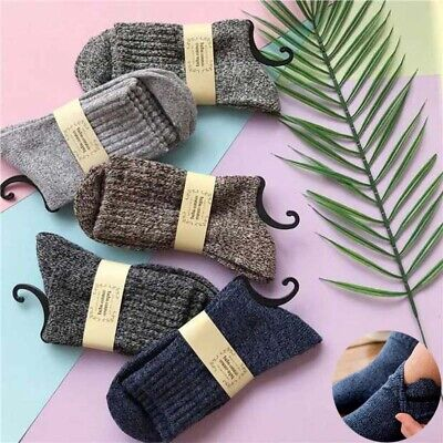 Soft Casual Winter Thick New Sports Warm Wool 5 Pairs Men Cashmere Socks Solid