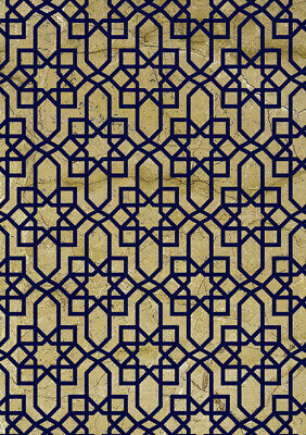 Moroccan  Pattern  Stencil Reusable Journaling Cards Crafts Wall Furniture TE277