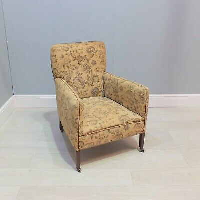 Good Antique 19th Century Armchair On Original Castors (158)