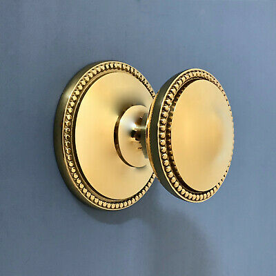 Reclaimed Brass Front Door Center Knob Handle Centre Pull Knocker