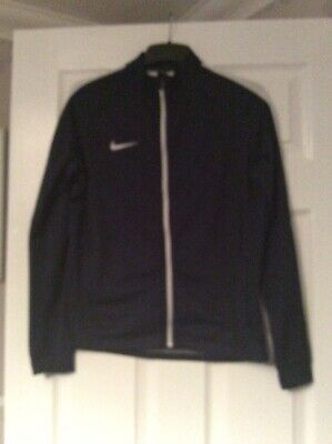 Unisex Nike Dri-fit Zip Up Tracky Top Age 13-15 Years Vgc