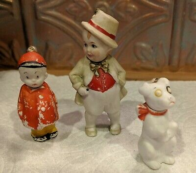 Antique bisque Nodder dolls-marked Herby & Scraps-Smittys Comic &  1  Germany