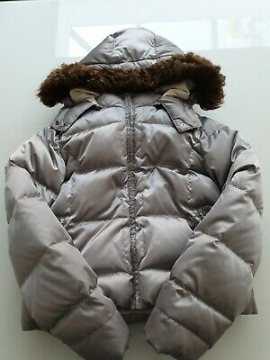 Gap puffer down winter zipped jacket with detachable hood for girls 12-13yrs