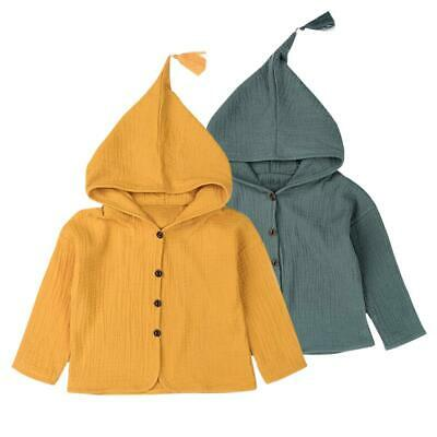 Baby Boy Girl Children Long-Sleeves Clothes Autumn Cardigan Hooded Coat