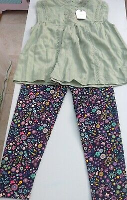 Girls blouse and leggings age 11