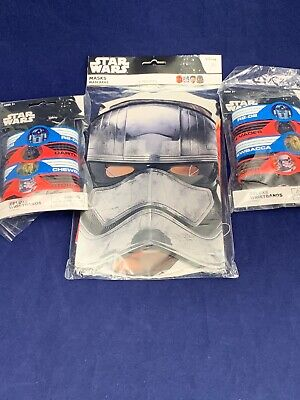 Star Wars Party Favor Masks Deluxe Wristbands Disney 16 Pc Birthday Party Boy