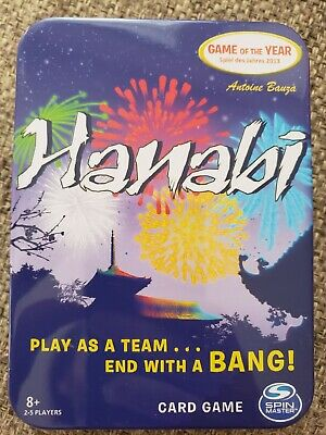 Hanabi Card Board Game 2013 GAME Of The YEAR With Tin Travel Case New Unopened