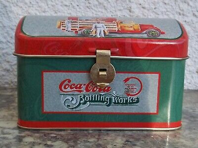 Coca Cola Bottling Works Tin Metal Music Box Advertising Collectible Chest Truck