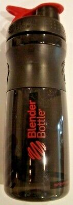 BlenderBottle SportMixer Twist Cap Tritan Grip Shaker Bottle, 28-Ounce, Black