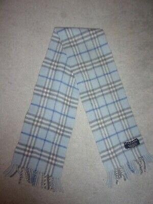 100% Genuine BURBERRY Nova check wool scarf - kids
