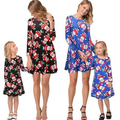 Christmas Mother Daughter Dresses Family Matching Parent-child Clothes