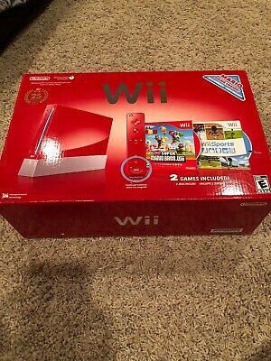 Nintendo Wii Limited Edition Red 25th Anniversary Mario Console System