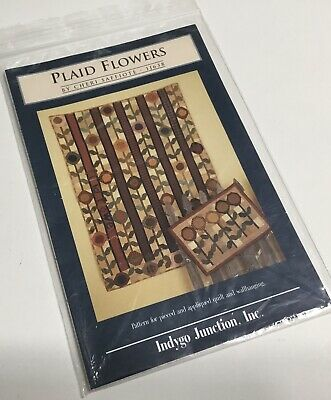 PLAID FLOWERS Quilt Pattern By Cheri Saffiote-Payne INDYGO JUNCTION
