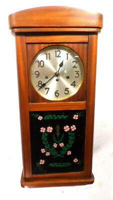 Beautiful 1910 8 Day German Junghans Chiming & Striking Wall Regulator Clock