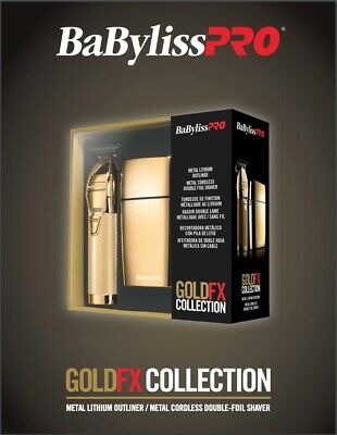 Babyliss PRO FXHOLPK2G Gold Fx Collection Trimmer and Shaver Combo