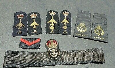 Post Ww11 Period British /Aust Royal Navy Hat Badge Ranking Shoulder Boards