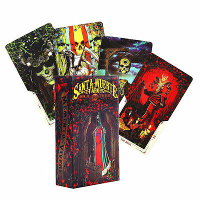 78X Santa Muerte Tarot Cards Deck Board Game Card Day of the Dead Themed Board