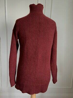 Joseph Luxe Cashmere Sweater Burgundy Size S/M