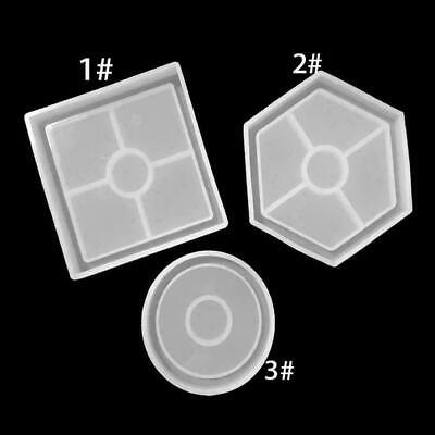 Epoxy Resin Molds For DIY-Coasters Silicone Jewelry Round/Square Making Mol O1Q4