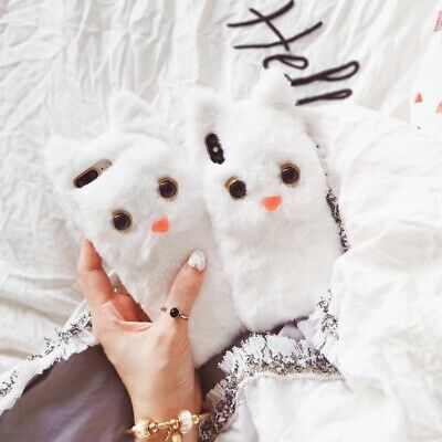 Cat  Fur  Cute  Plush  For iPhone Max XS XR 6s 7 8 Plus  Fluffy  Doll  Hairy
