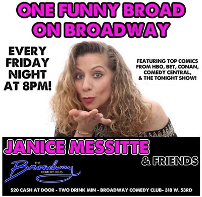 Two (2) Tickets Broadway Comedy Club NYC New York City Never Expires Manhattan