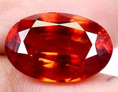 11.40 CT Ceylon's Natural Padparadscha Sapphire Oval Shape Certified Gem OF9789