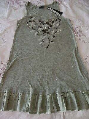 Next girls embellished party wedding prom occasion christmas vest dress 12Y NWT