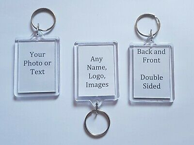 Personalised Custom Photo Keyring - Birthday Christmas Gift Pets Family Keychain
