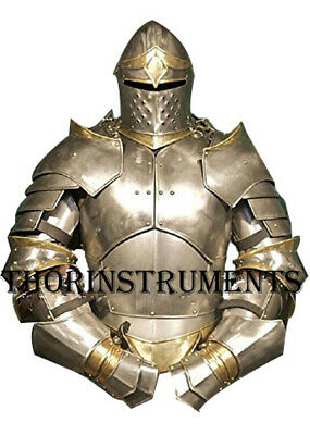 Medieval Knight Suit of Armor Costume - LARP Wearable Halloween Costume