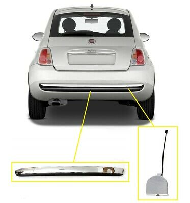 ABS Front Car Bumper Tow Hook Cover Cap Unpainted 735456794 Fit for 500 07-15 Front Bumper Towing Cover