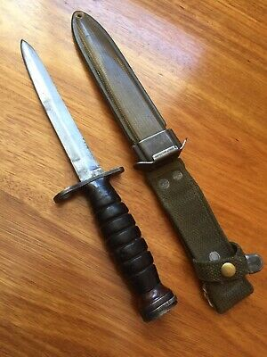 M4 Bayonet WWII Australian Trench Knife Fighting Ww2 Dagger Kabar Combat Us M1