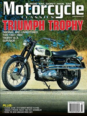 Motorcycle Classics Triumph Trophy Ride Vol 15 No 3 Jan/Feb 2020 Magazine W12