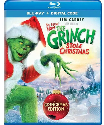 How the Grinch Stole Christmas Blu-ray  - Jim Carrey - new/sealed