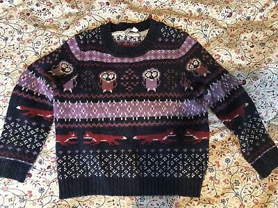 Fatface Boys Or Girls Jumper Foxes Owls Age 4-5 Unisex