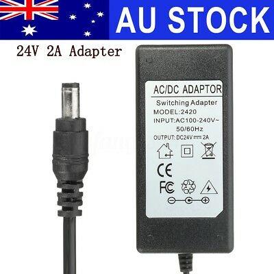 AU 24V 2A Power Supply Adapter Charger For Logitech Racing Wheel G27 G25 G940 T