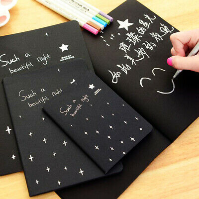 Fashion Painting Sketchbook Black Notepad Traveler Notebook Journal Diary