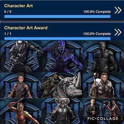 Topps Marvel Collect Black Panther Character Art Set W Award