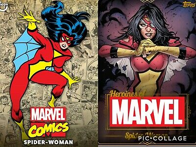 Topps Marvel Collect Spider-Woman - Heroine Gold & Classic Color