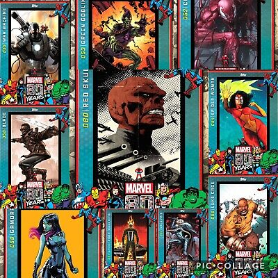 Topps Marvel Collect 80 Year Celebration Wave 6 Compl. Set w/ Award Red Skull