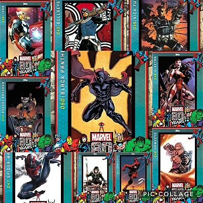 Topps Marvel Collect 80 Year Celebration Wave 5 Compl. Set w/Award Black Panther