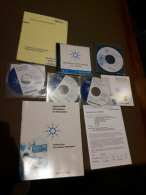 HP Agilent GC Chemstation G2070AA Licence 5890 6890 7890 + manuals and software