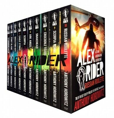 Alex Rider Collection 10 Books Anthony Horowitz Set Pack Russian Roulette PB