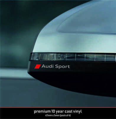 Audi Sport Micro Premium Quality!! 10 Year Cast Vinyl Decals Stickers x 4