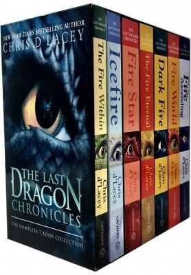 The Last Dragon Chronicles Collection Chris D Lacey 7 Books Box Set PB NEW