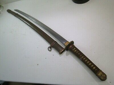 Wwii Japanese Army Officers Samurai Sword Katana Signed And Dated With Scabbard